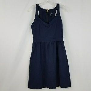 Cynthia Rowley 4 small navy blue racerback dress
